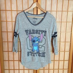 Disney Varsity Stitch Shirt 3/4 Sleeves
